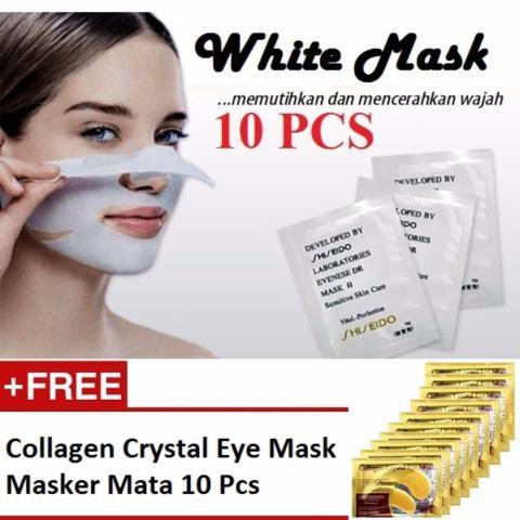 Home; White Mask Masker Pengangkat Komedo - 10 Pcs + Gratis Collagen Eye Mask Masker Mata 10 Pcs