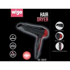 Wigo Hair Dryer pengering rambut angin kencang W 889-hitam