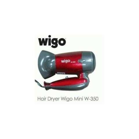 Hairdryer Wigo Mini W-350 Pengering Rambut Hair Dryer Merah