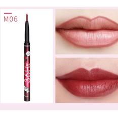 Wanita 6 Warna Anti-Air Riasan Pensil Bibir Warna Tidak Mengkilap Beludru Bibir Penggaris Pulpen F-Internasional