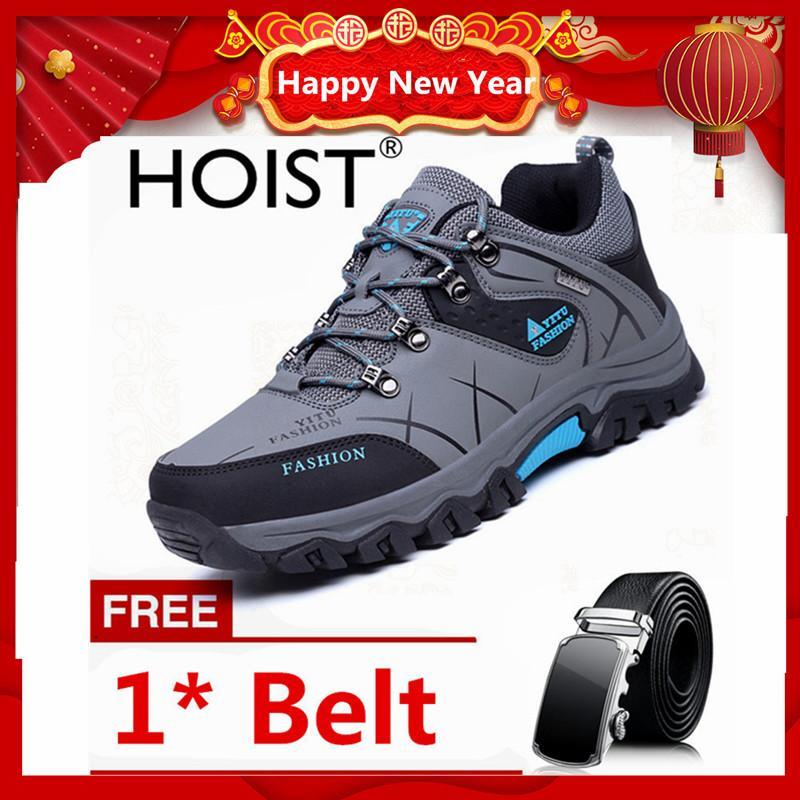 Hoist Sepatu Pria Outdoor Naik Gunung Tahan Cuaca Anti-Selip Sepatu hiking 39-47