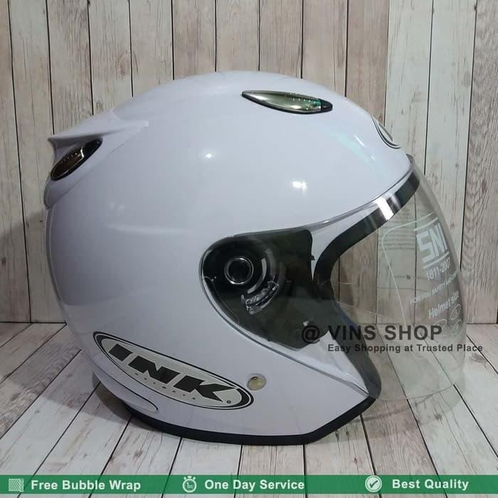 Helm Centro Vry Model INK Putih Free Bubble Wrap