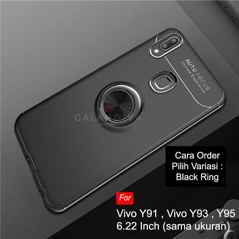 Calandiva Soft Case VIVO Y91 Y93 Y95 (6.22 Inch) (FINGERPRINT) (sama