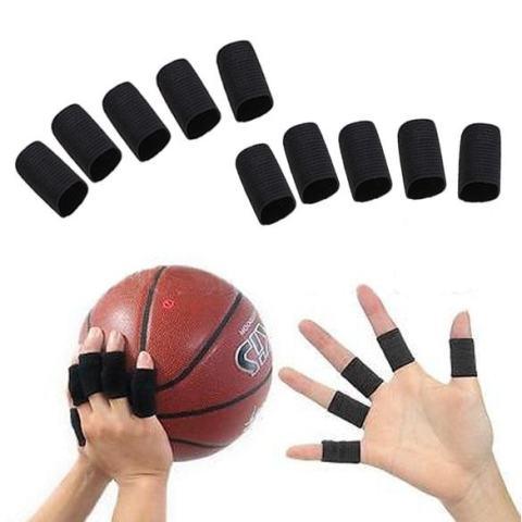 10 PCS Stretchy Finger Lengan Dukungan Bungkus Arthritis Guard Bola Voli Olahraga