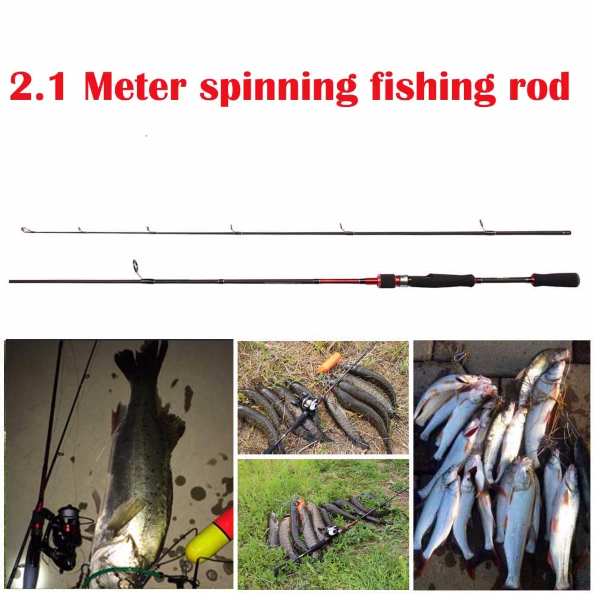 Toko Online Murah Meriah Hanya Untuk Anda: JUALAN DISKON 2.1 Meter Jual Beli Joran Pancing Karbon Spinning Rod Red 5-15g 5-18LB Fishing Rod