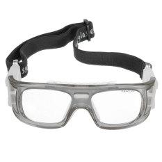 5 Pcs Olahraga Sepak Bola Basket Kacamata Pengaman Pelindung Elastis Mata Abu-abu-Intl