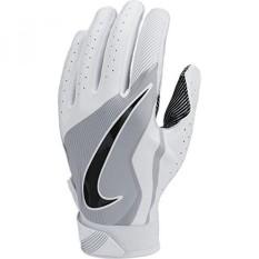 Anak Laki-laki Nike Vapor Jet 4 Sepak Bola Sarung Tangan Putih/Serigala Grey/Hitam Ukuran-Internasional