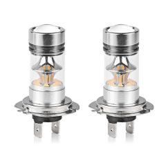 Buy In Coins 1x H7 100 W Cree LED Kabut DRL Berkendara Mobil Lampu Utama Lampu Lampu Putih Super Bright Silver-Intl