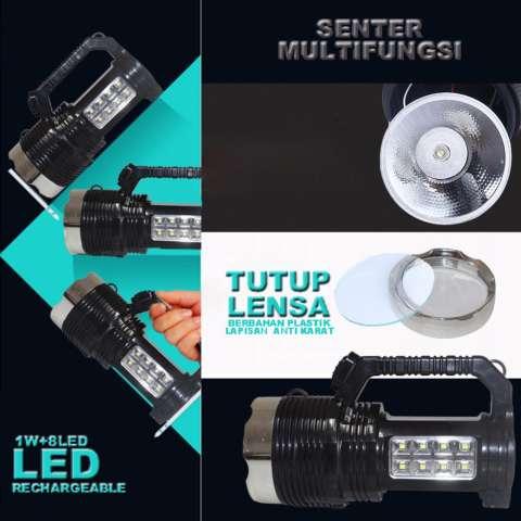 EELIC LAS-6870 Lampu Senter Emergency Solar Panel Rechargeable