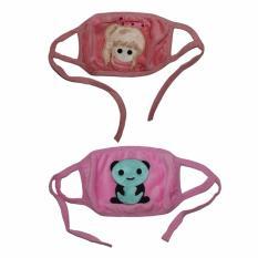 EELIC MAR-MASKER 2 Pcs GIRL Dan PANDA Masker Penutup Mulut Lucu Berkarakter
