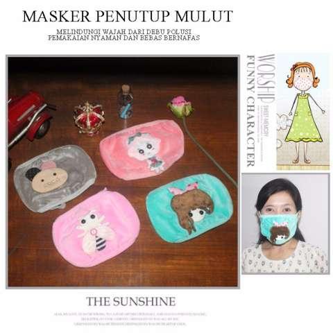 ... Sekali Pakai Debu. Source · EELIC MAR-MASKER 4 Pcs Lebah, Kiko, Beruang, Girl Masker Penutup Mulut