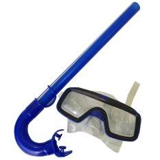 Eigia Alat Snorkling Peralatan Snorkeling Selam Menyelam Anak - Biru