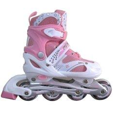 Eigia Sepatu Roda Inline Skate Dotrix Superb Roller Skates Roller Blade Sport In Line Mainan Anak Pemula Remaja Dewasa Roda PVC ABEC7 Depan Bisa Menyala Lampu Chasis Kuat Kokoh Awet Ukuran Dapat Diatur Adjustable + Kunci L Olahraga Rekreasi Outdoor Keseim