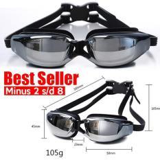 Kacamata Renang Minus Miopi Anti Embun Fogging Profesional