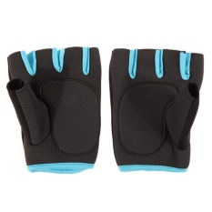 Ladies Weight Lifting Gloves Neoprene Gym Training Body Building Fitness Straps Blue 7-8.5cm - intl