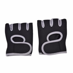 Ladies Weight Lifting Gloves Neoprene Gym Training Body Building Fitness Straps Grey 7-8.5cm - intl