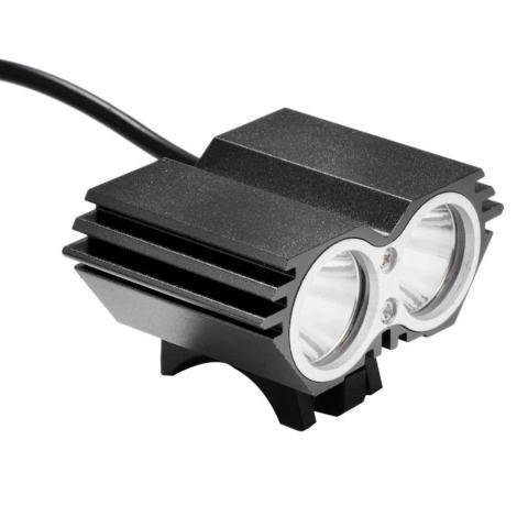 LED Super Terang Lampu Depan Sepeda, Pengisian Lampu Sepeda Hitam (EU)-International 1
