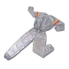 Lucky - Sport Sauna Suit Size Jumbo XXL - Baju Sauna Pembakar Lemak - Silver / 1Pcs