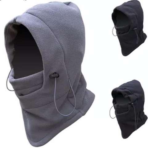 Masker Buff Balaclava Multifungsi Ninja Kupluk Polar 6 In 1 Full Face Abu Muda Masker Motor Topi Outdoor Gunung Hiking Salju 1