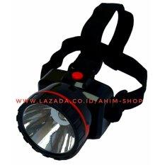Matsugi Lampu Senter Kepala 2in1 Lighting 1.5W LED MG-3319 (Hitam)