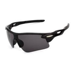Pria Wanita Sun Kacamata Retro Cermin Vintage Gaya Shades Sport Bersepeda Goggles Kacamata Spesifikasi: Bright Black Box Gray Lembar-Intl