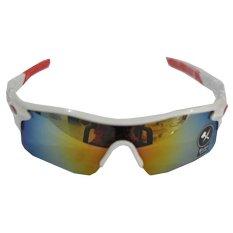 Ormano Sport Outdoor UV400 Protection HM Sunglasses Kacamata Sepeda Hiking Motor Adventure Olahraga 9181 - Putih