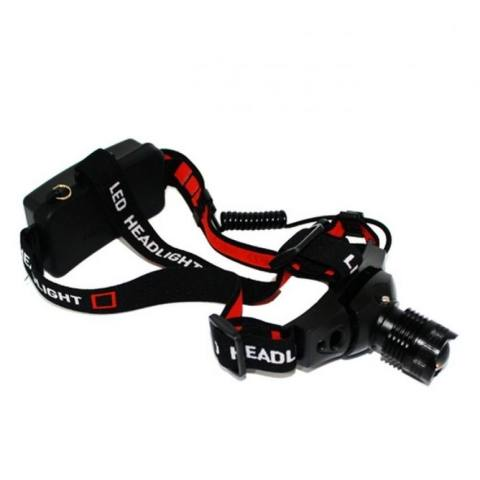 Police Headlamp CREE LED Rechargeable - Senter Kepala JS 0181 - Hitam