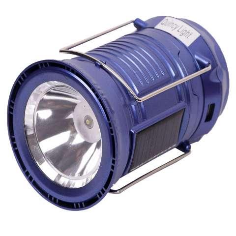 Quincy - Magic Ball + Lampu Senter Emergency Kemping Lentera LED + Solar Rechargeable - Blue