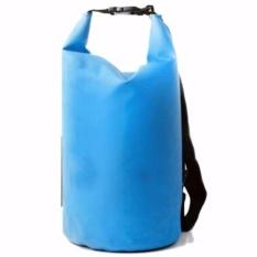 Safebag Outdoor Drifting Waterproof Bucket Dry Bag 5 Liter Tas Anti Air Water Proof Perlengkapan Olahraga Camping Rekreasi Travelling Hiking Sling Selempang Bahan Parasut Tidak Tembus Air s4002 - Blue