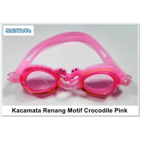 Sainteve Kacamata Renang Anak Crocodile Pink