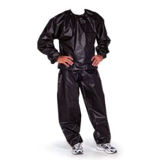 Sport Sauna Suit Baju Sauna Pembakar Lemak - Hitam