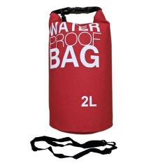 SS Waterproof Dry Bag Korean 2 Liter Red / Waterprof Drybag Merah / Tas anti air