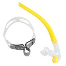 Baru 2016 Paus Merek Renang Menyelam Snorkeling Peralatan Snorkel Pernapasan Tabung (Kuning)