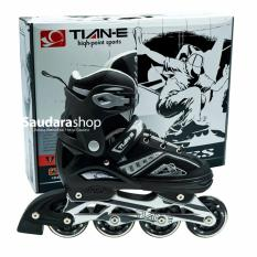 Tian-E Sepaturoda Inline Skate Roda Karet Hitam / Sepatu Roda Inline Roda Karet Black