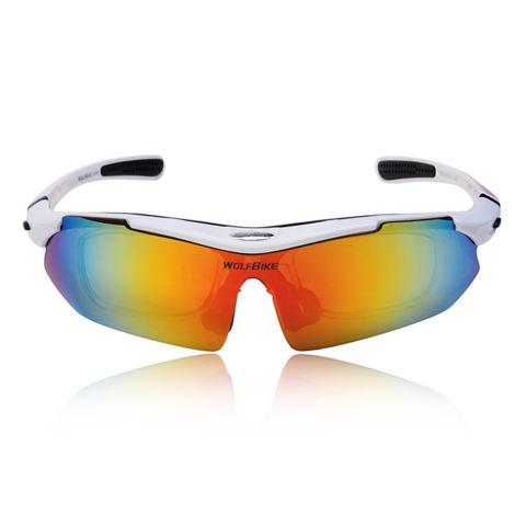 Home; UV400 Polarized Sunglasses Kacamata Pengaman Goggle untuk Sepeda Naik Aktivitas Terbuka Detachable Universal 5 Lens White