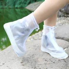 Veecome Luar Ruangan Anti-Air Plastik Penutup Sepatu Saat Hujan-Tahan Selip & wanita Warna: putih-Internasional