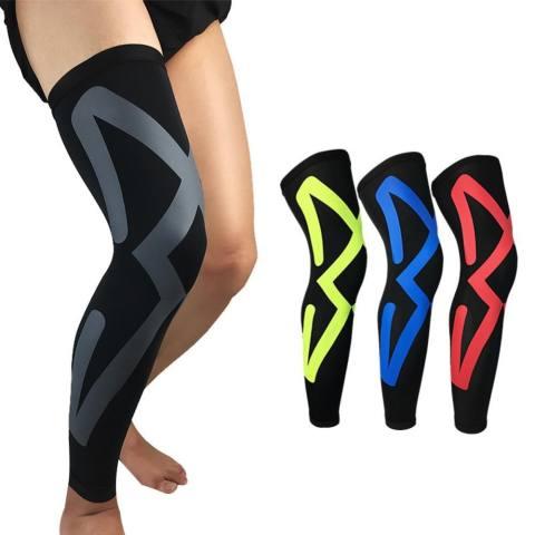 Lutut Bantalan Kompresi Panjang Kaki Lengan Pelindung Perlengkapan Bernapas Yg Tahan Pukulan Antislip Bola Keranjang Pelindung