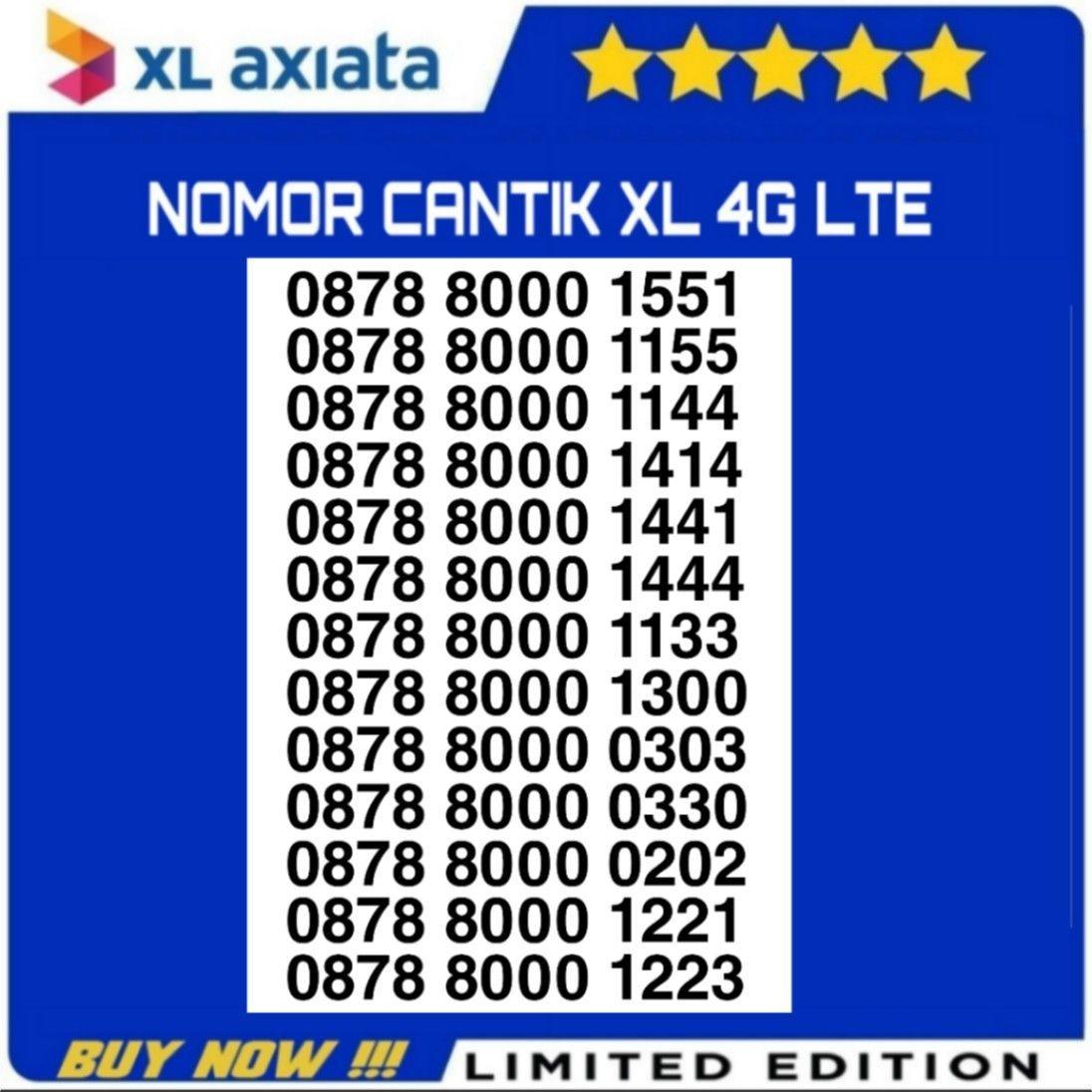 Nomor Cantik XL, Kartu Perdana XL 4G LTE, Nocan XL Murah