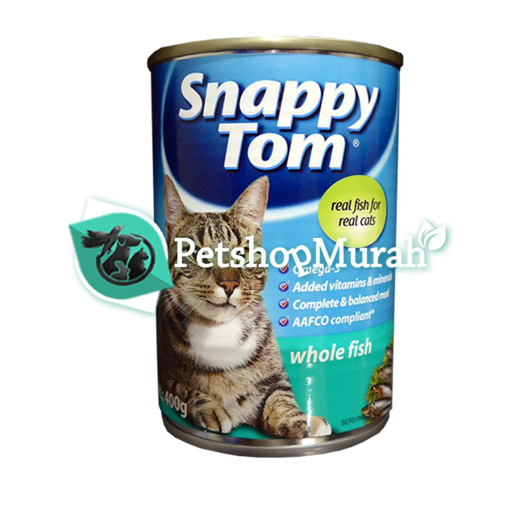 Makanan Kucing Snappy Tom Adult Whole Fish 400 gr / Makanan Basah Wet Food Dewasa 400gram