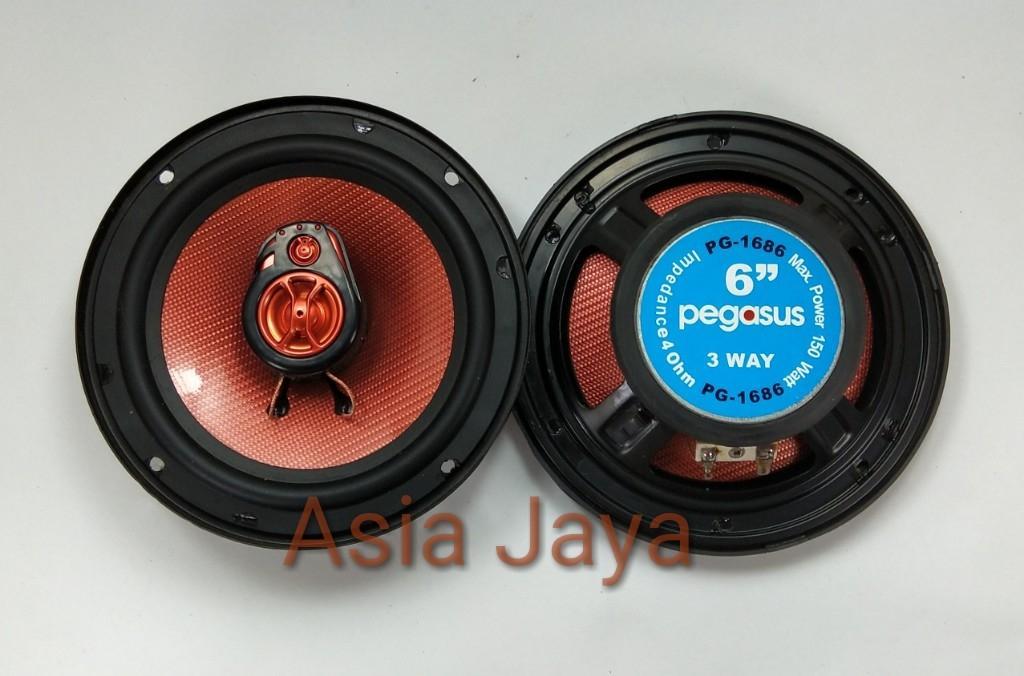Speaker Pintu Mobil 3 Way Pegasus PG1686