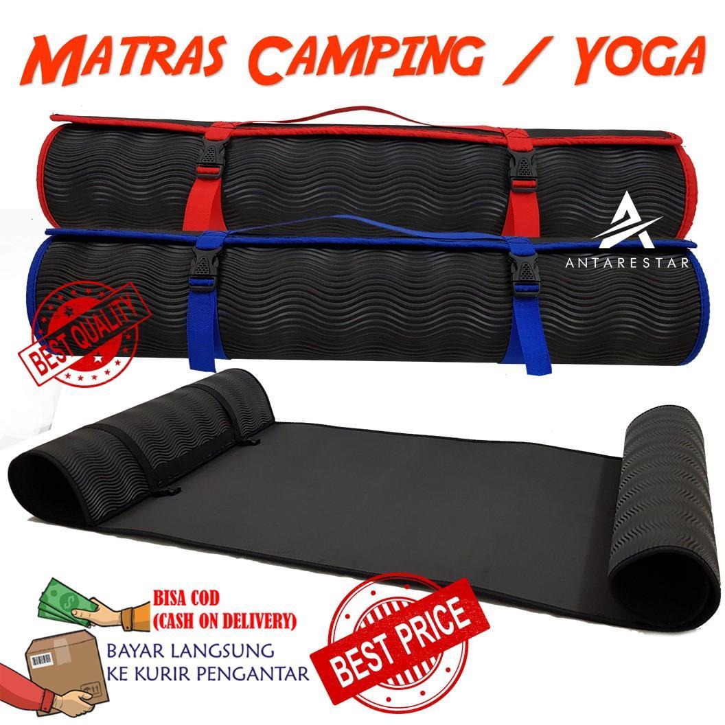 Matras Camping Outdoor Matras Yoga Bahan Spon Karet Anti Slip Praktis Gulung Alas Tenda / Alas