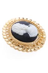 1901 Jewelry Elizabeth Brooch - Bros Wanita - Hitam