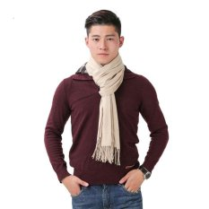 2017 NEW Scarf in Kashmir Brand Men's Scarves in Wool Warm Shawls Cotton Designer Gland Womens Wraps( Beige)