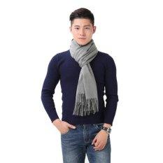 2017 NEW Scarf in Kashmir Brand Men's Scarves in Wool Warm Shawls Cotton Designer Gland Womens Wraps (Grey )