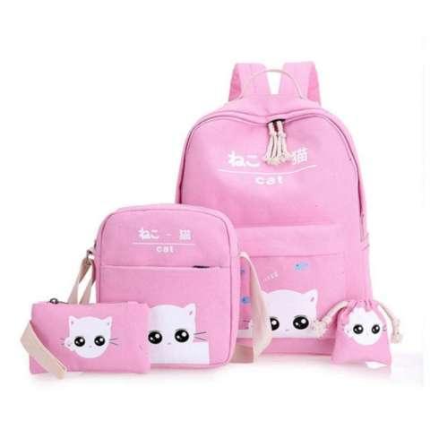 3 in 1 Ransel Bag Cat white Lestari Fashion bag
