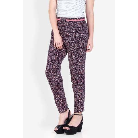 3second  Women Clothing Pants & Leggings Pants  Wanita Pakaian Celana & Legging Pants Blue Biru Diskon discount murah bazaar baju celana fashion brand branded 1