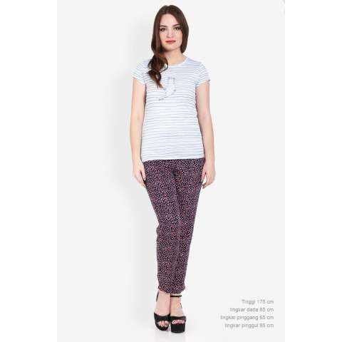 3second  Women Clothing Pants & Leggings Pants  Wanita Pakaian Celana & Legging Pants Blue Biru Diskon discount murah bazaar baju celana fashion brand branded 3