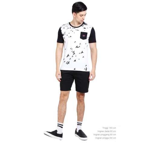 3 Second Men Tshirt Black Diskon discount murah bazaar baju celana fashion brand branded 4