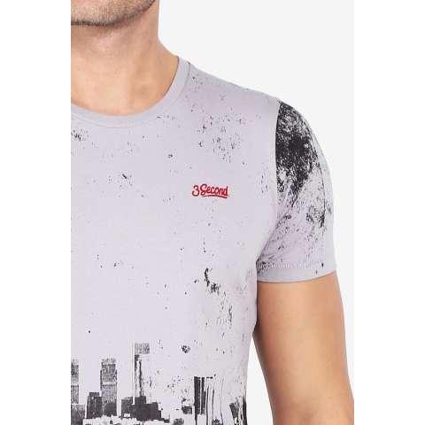 3 Second Men Tshirt Grey Diskon discount murah bazaar baju celana fashion brand branded 3