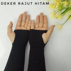 3K Handsock Finger - Manset Rajut - Hitam